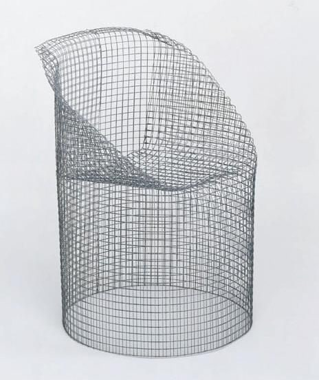 Ueli Berger; Molded Wire Mesh '5-Minute-Chair', 1970.  #form #function #grid #chair #furniture #wiremesh #Ueliberger #inspiration  #aiio