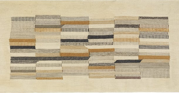 Anni Albers Untitled, 1941 rayon, linen, cotton, wool, jute 21 × 46 in. (53.3 × 116.8 cm)  The Josef & Anni Albers Foundation
