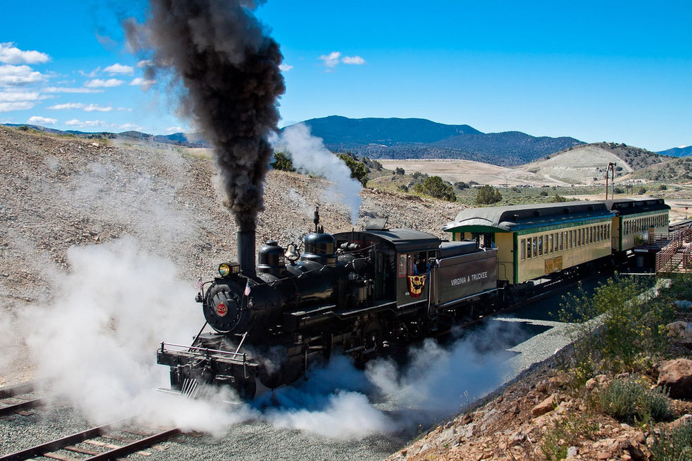 The Virginia and Truckee Railroad was a rail line created in the late 19th century to service the booming silver mining industry in Nevada.    We'll be commandeering this steam locomotive to transport the group to a western themed party in the heart of the Wild West town of Virginia City. So strap on your spurs cowboys and cowgirls, because TBL is going to show how the west was really won!