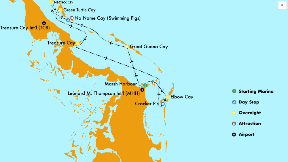 Bahamas Route Map