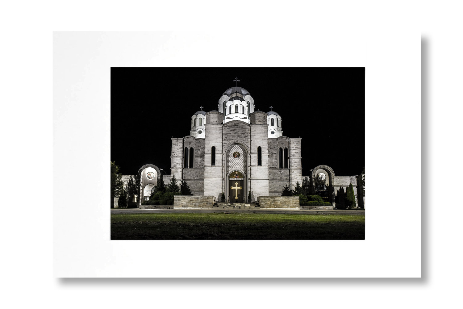 Serbian Orthodox Church 5x7in Greeting Card With 4x6in Removable