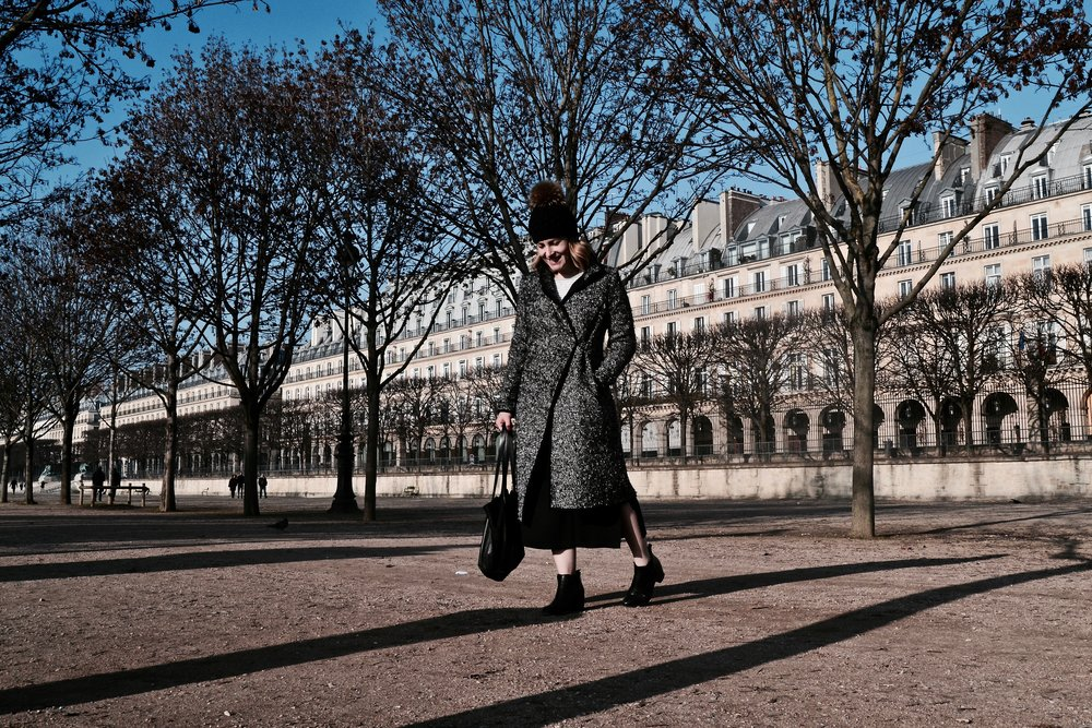 Coat: Scanlan Theodore, Boots: Midas, Bag: Charlie Middleton, Beanie: from a market in Paris