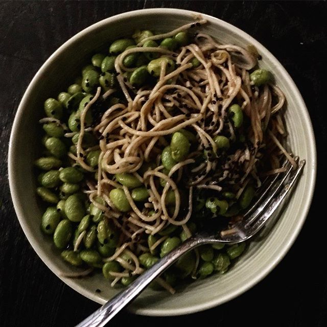 Loving this soba noodle salad from @naturallyella for a quick midweek dinner #yum