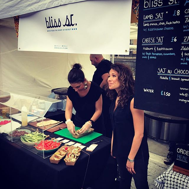 We had a very busy weekend serving hundreds of saj to hungry crowds at the @londonhalalfoodfestival! Thanks everyone for stopping by! Stay tuned for our upcoming locations in London #foodie #festival #streetfood #london #beirut #bliss #saj #foodporn #tobaccodock #middleeast #goodfood #soulfood