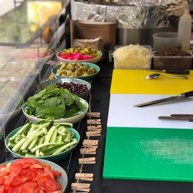 Ready to go!! All our saj come with fresh veggies of your choice! Come grab yours today at #backyardmarket on brick lane. We'll be here until 5pm. Miss it, miss out! #blissst #saj #bricklane #hackney #london #food #foodporn #soulfood #streetfood #popup #onthego #beirut #middleeast
