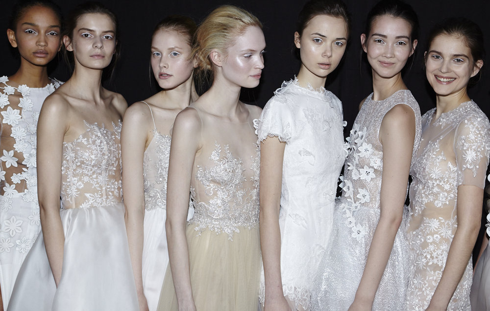 Backstage at the Kaviar Gauche A/W 2016 show  © Cathleen Wolf