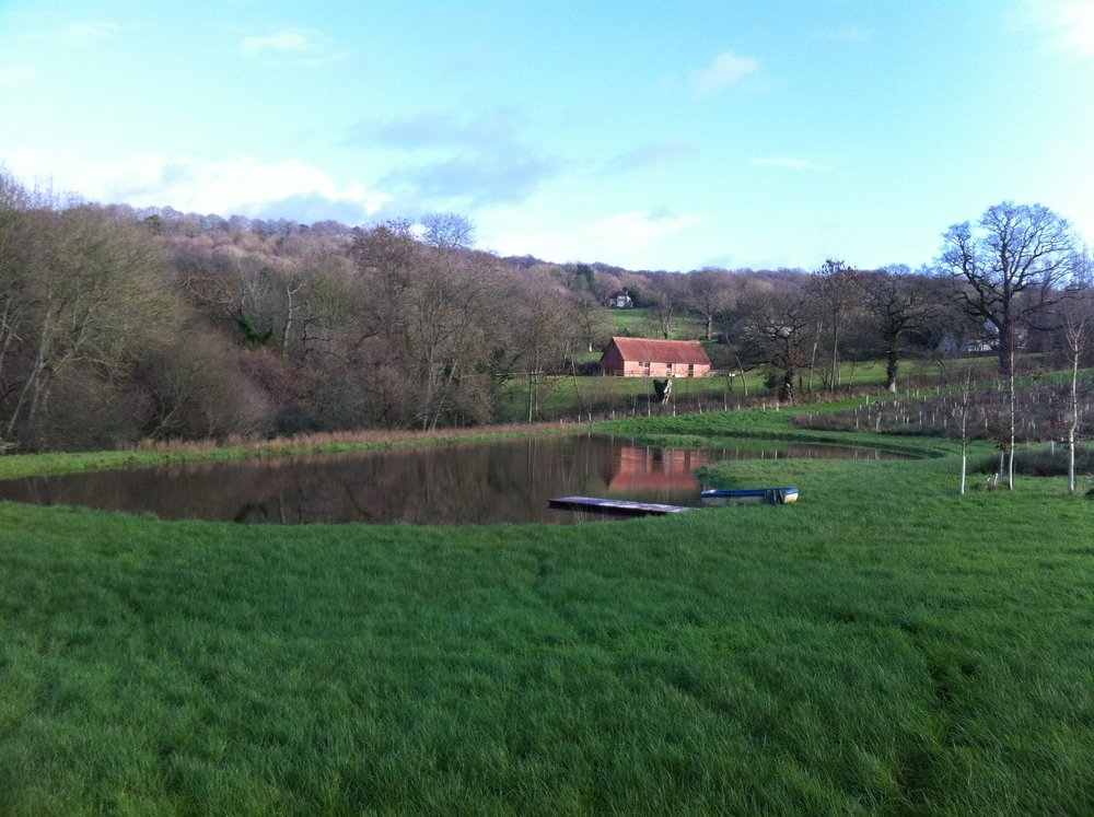 The pond filled within 6 months and this is late winter, January 2016.