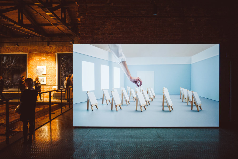 Видео инсталляция Александры Паперно, 2018.