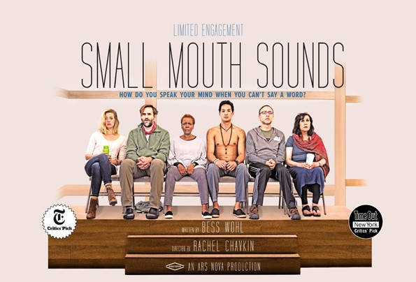 Brenna Palughi (far left) with the rest of the Small Mouth Sounds New Haven cast