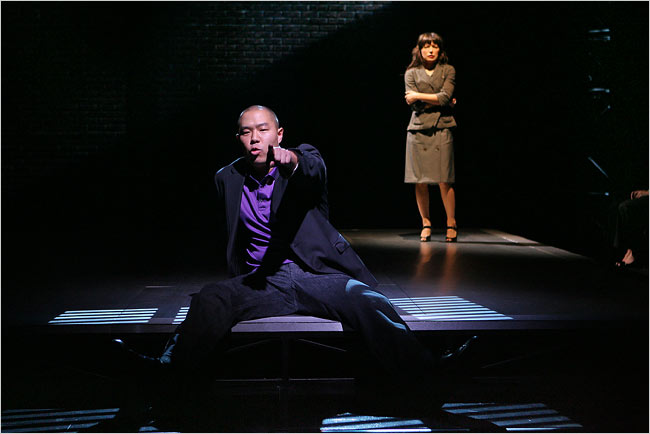 Hoon Lee as David Henry Hwang in  Yellow Face