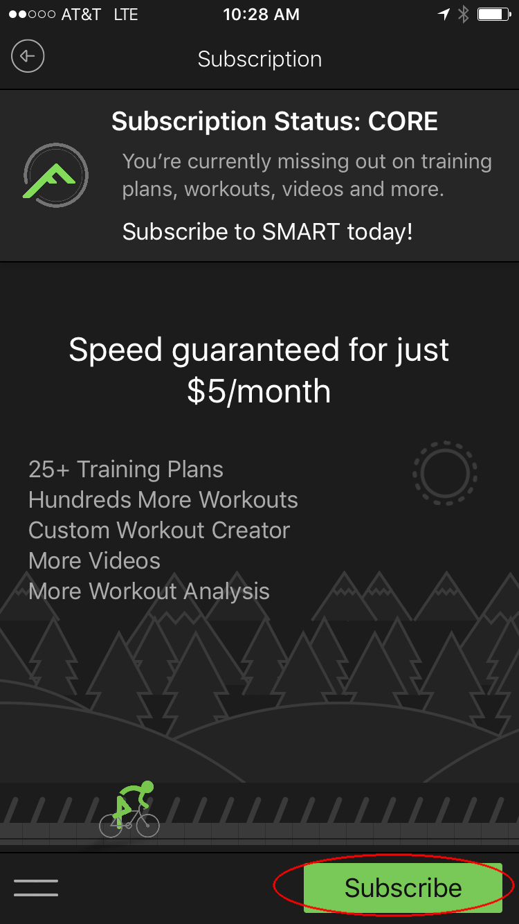 3. Select Subscribe to start a yearly SMART subscription