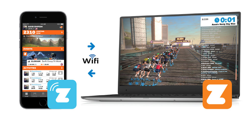 Connect with the Zwift App