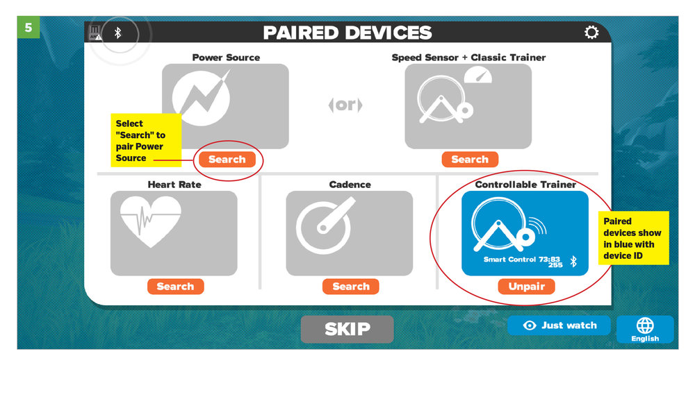 Step 5: Paired Devices Turn Blue