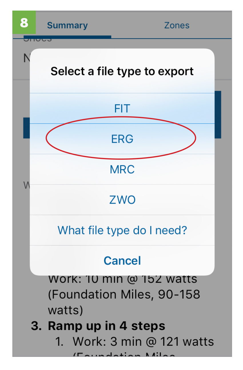 Select file type, select  ERG .