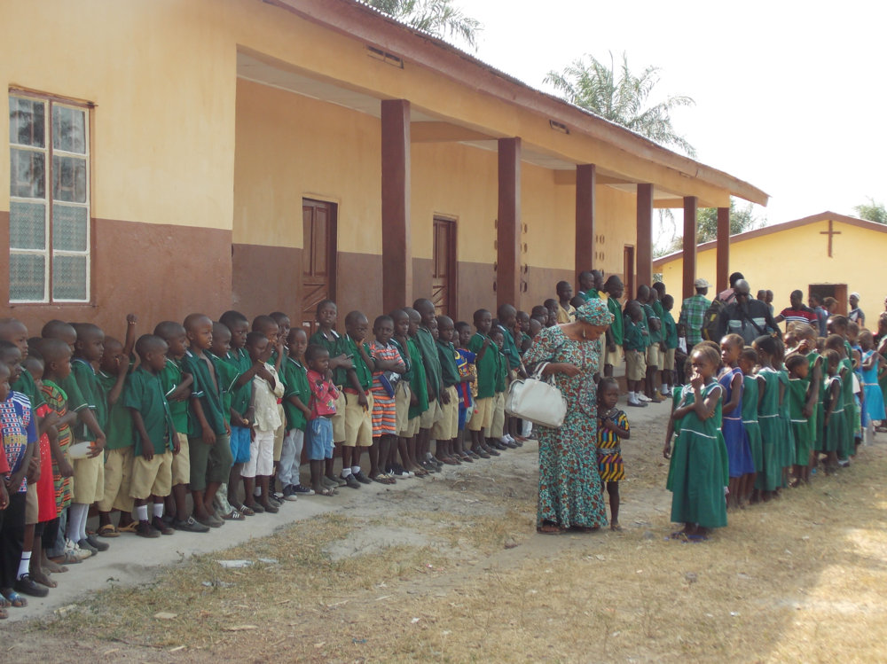 Students of Mange Acre Primary School