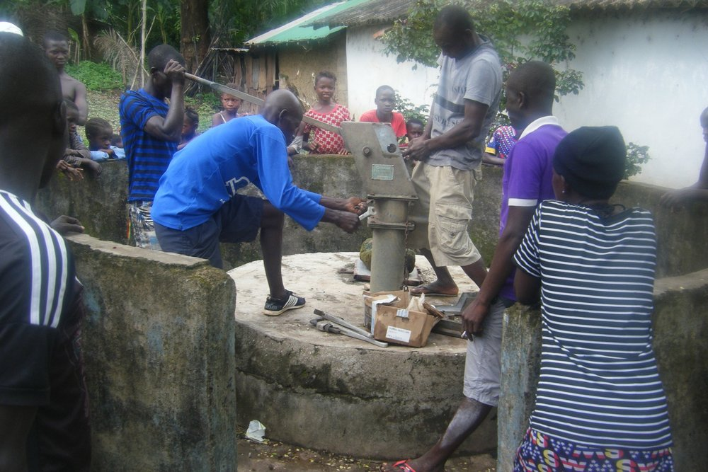 Dismantling Water Well Pump at Katick Village in preparation for Rehabilitation (1).jpg
