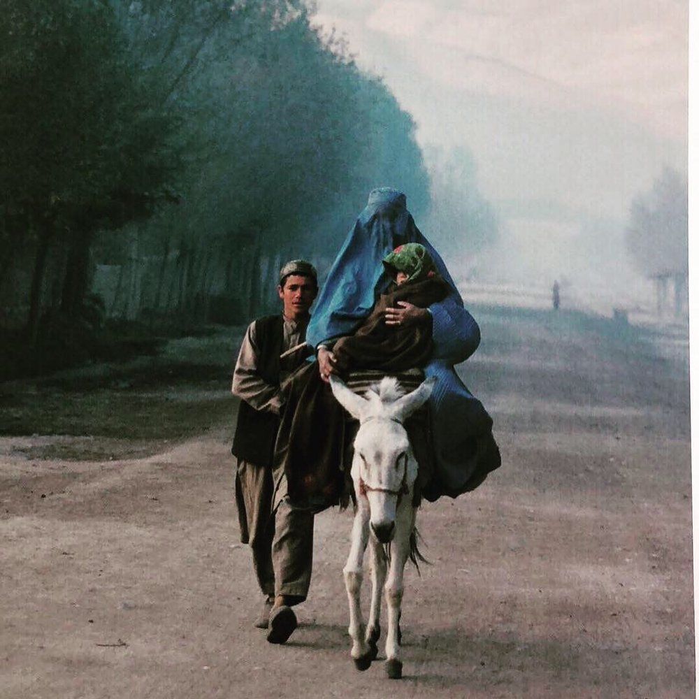 The Blue Burka, Faizabad, Badakshan Province, November 2001 , by Luke Powell