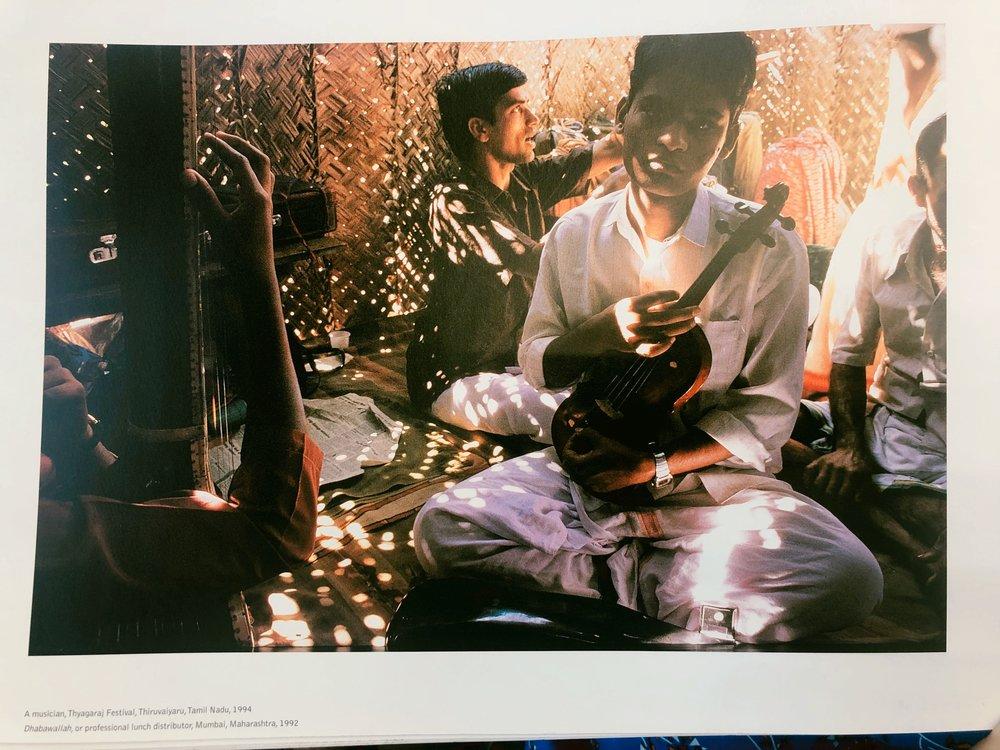 A musician, Thyagaraj Festival, Thiruvaiyaru, Tamil Nadu, 1994 , by Raghubir Singh