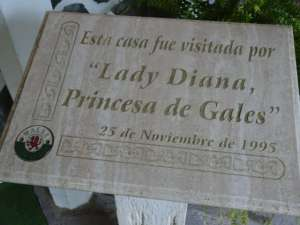 """""""This house was visited by Lady Diana, Princess of Wales on the 25th of November 1995"""" Photo: Sam Howe"""
