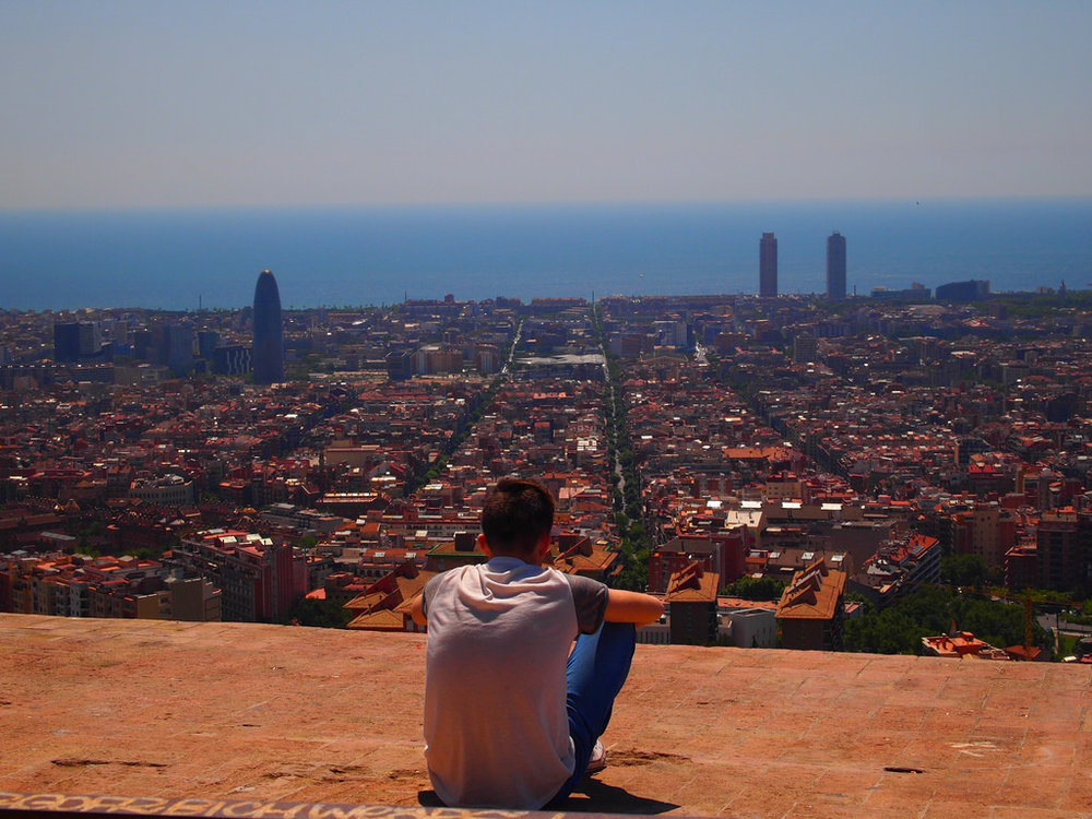 The view of Barcelona from the bunkers at Carmel.