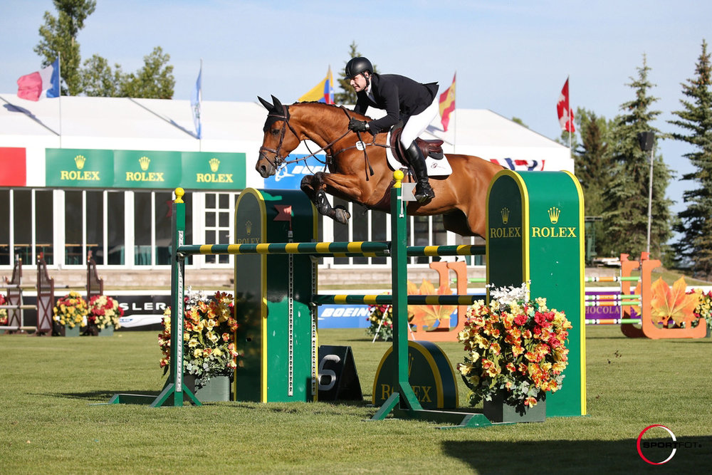 Peter Lutz and Robin De Ponthual at Spruce Meadows by SportFot.jpg