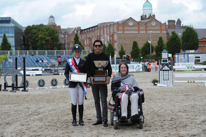 Left to right: Jenny Rankin, Michael Meller and Deirdre Bourns - Photo courtesy of the Dublin Horse Show