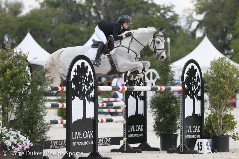 Clementine Goutal on her way to winning the M. Michael Meller Style of Riding Award.