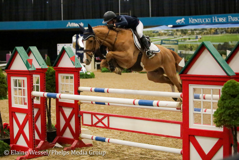 Molly Ashe Cawley and Picobello Choppin PC at the 2018 National Horse Show.