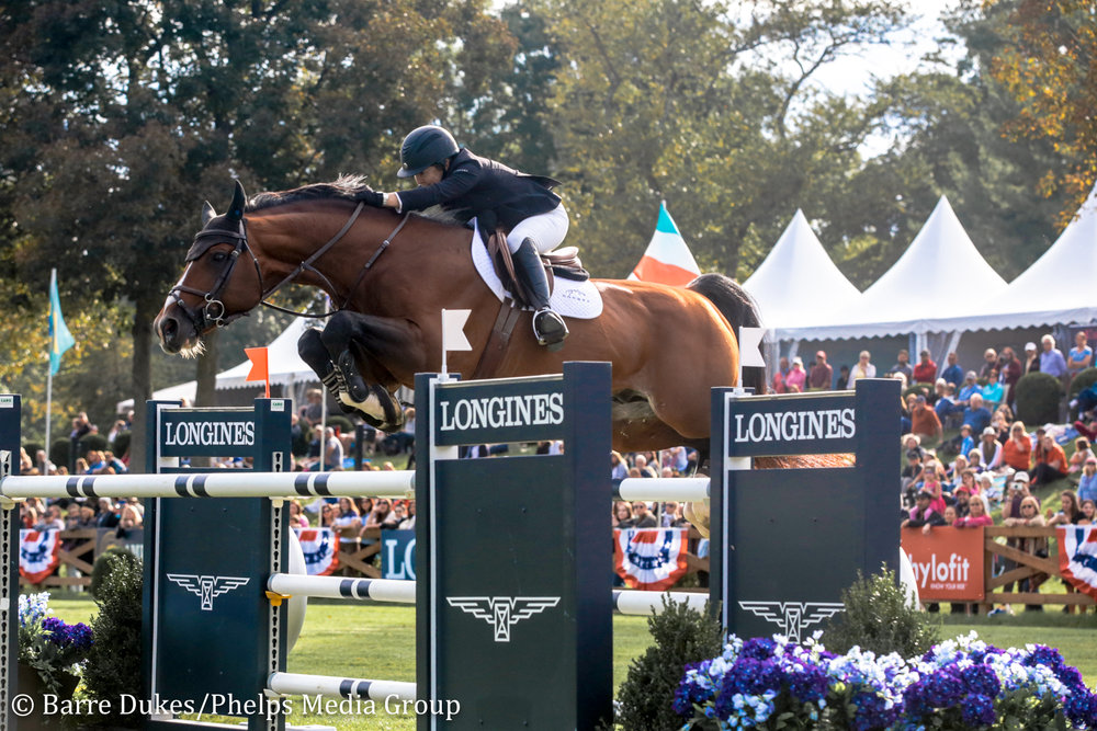 Margie Engle and Royce jump to second place in the $204,000 Longines FEI Jumping World Cup™ New York CSI4*-W