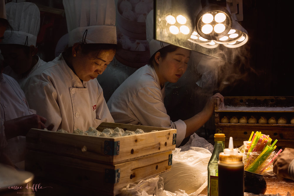 One of the many food vendors in the Beijing Night Markets