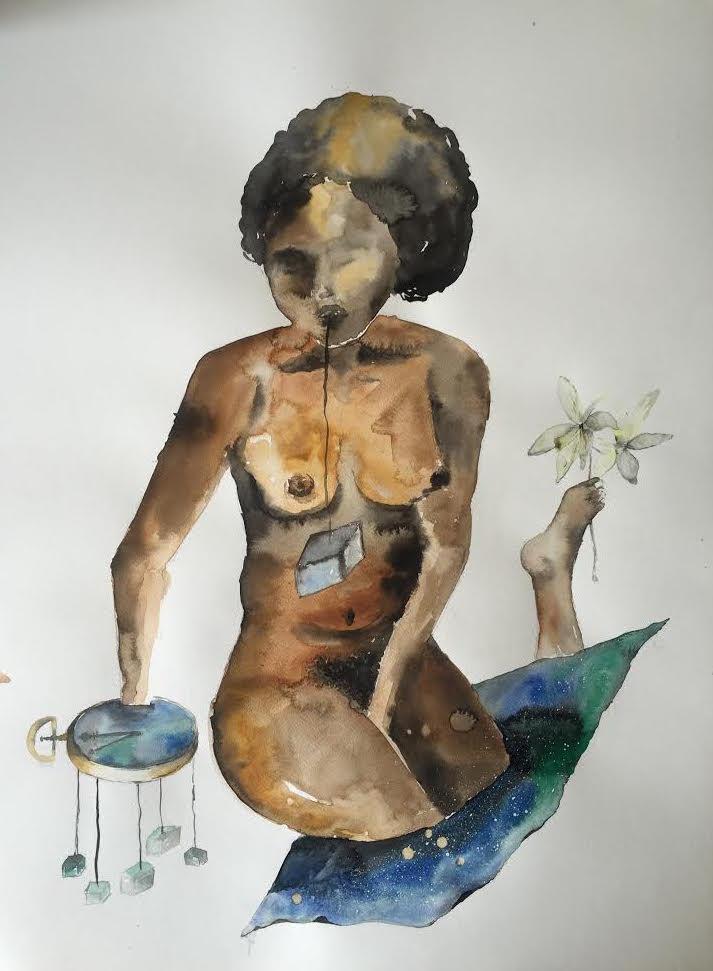 Painting by  Laila Vaziralli