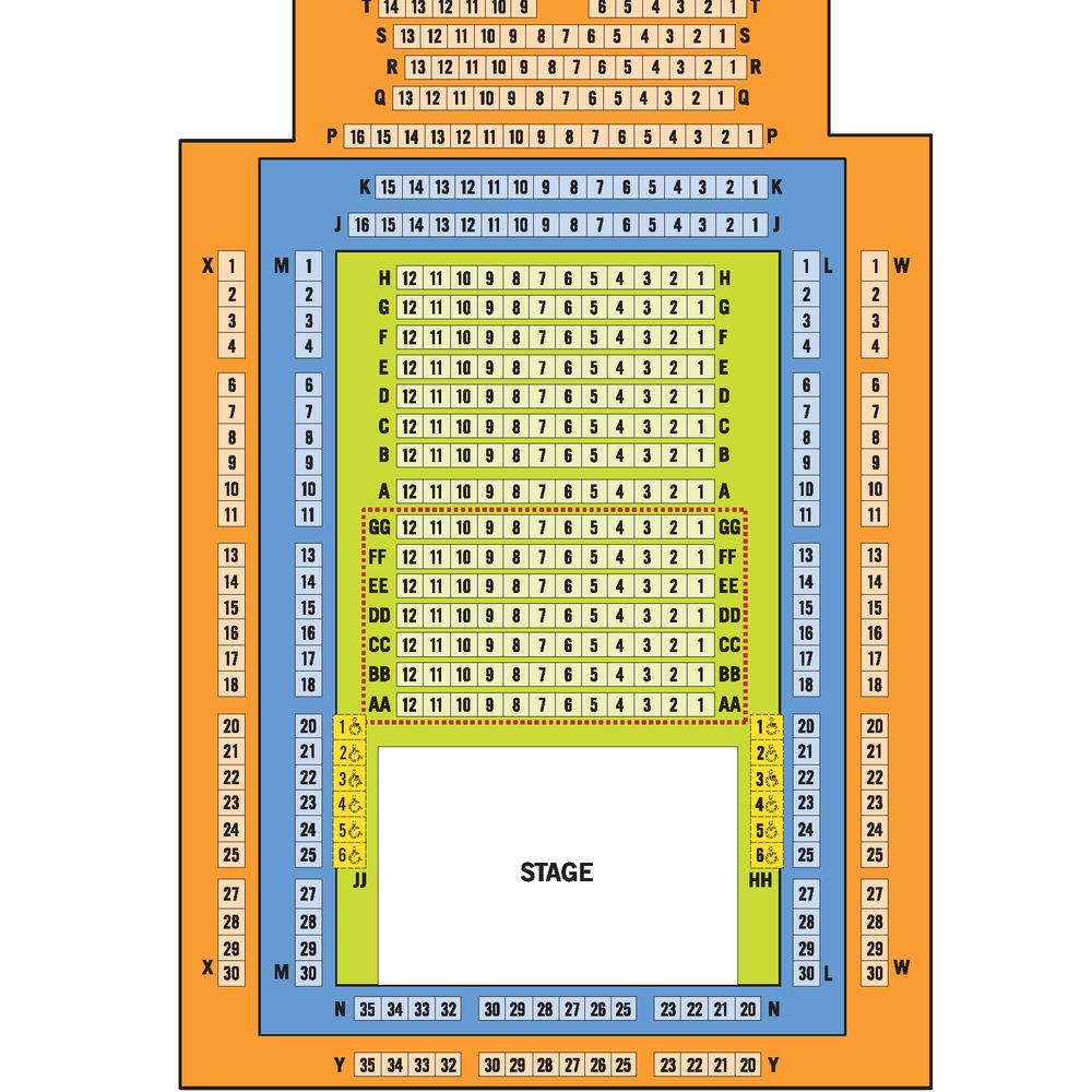 Studio Theatre Interactive Seating Map