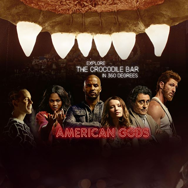 Tired of waiting for the second season of American Gods? Take a look at the 360º interactive video we produced where you can hear the cast discuss the iconic Crocodile Bar : https://youtu.be/KjGh32Z5cBs  #vr #360 #virtualreality #VRmedia #tech #canon #immersive #liberty360 #americangods #photo360 #explorein360 #starz #amazonprime #samsungvr #googlecardboard #crocodilebar