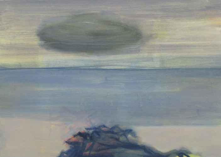 The Doubtful Cloud • Oil on Board • 32x40cm • £600 • 2015