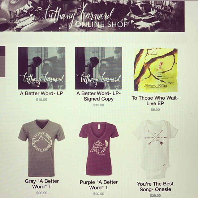 A lot of you have asked about getting physical copies of my new CD or one of the new shirts - well, here ya go! Link in bio:)