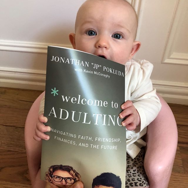 Our dear friend @jpokluda just released this phenomenal book full of biblical truth that he believes and lives! We are blessed to be in community with this guy and his precious wife Monica. I have also seen the fruit produced through his leading of the young adults ministry @theporch for years now, and am SO excited to see what all the Lord is gonna do through this new resource! PS Corrie is on Chapter 5 already! #welcometoadulting WelcomeToAdultingBook.com