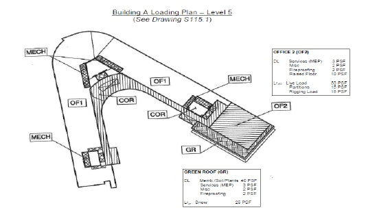 Figure       SEQ Figure \* ARABIC     2      . Superimposed roof load diagram. Courtesy of NBBJ.