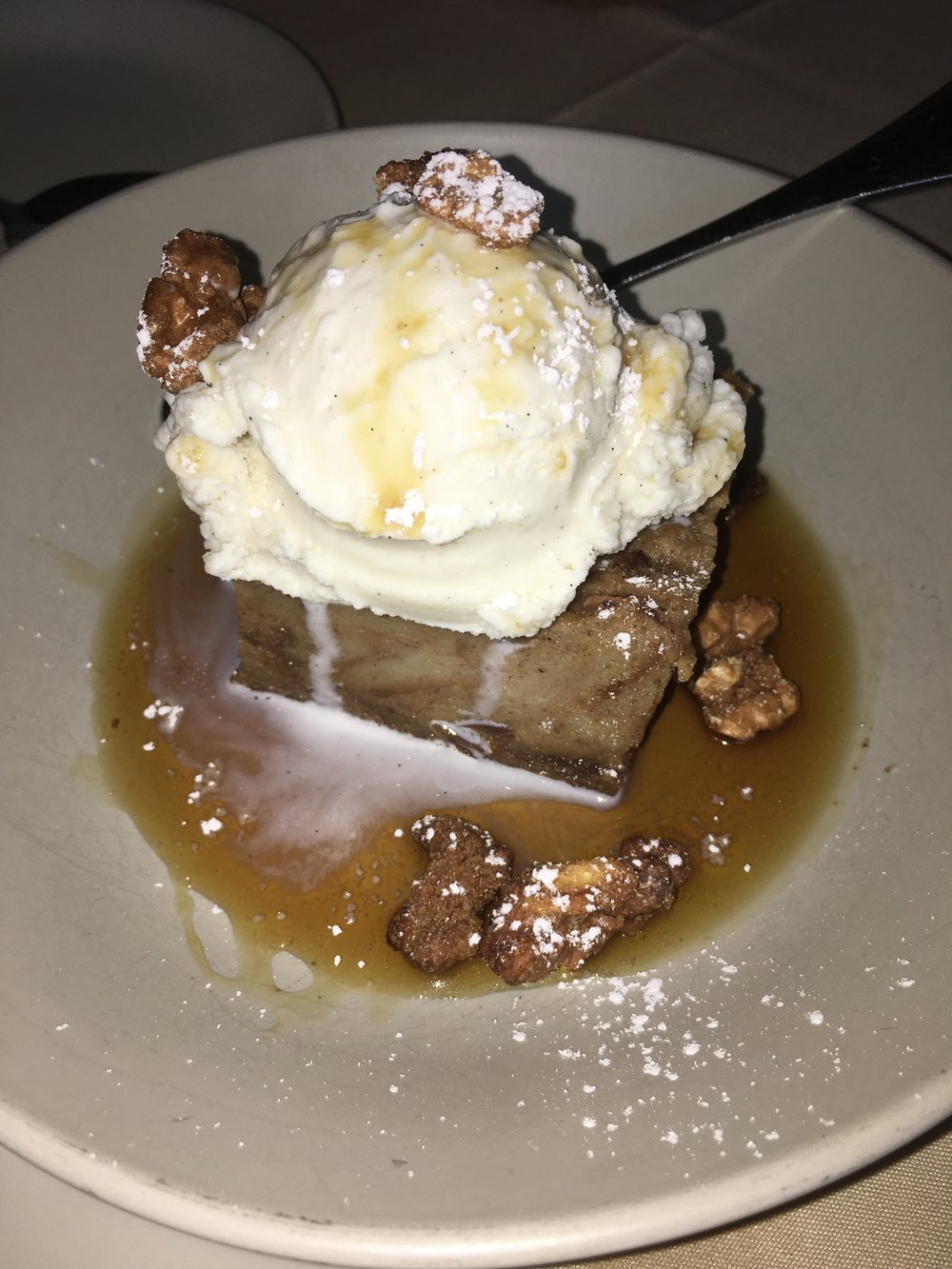 Smoked Apple Bread Pudding