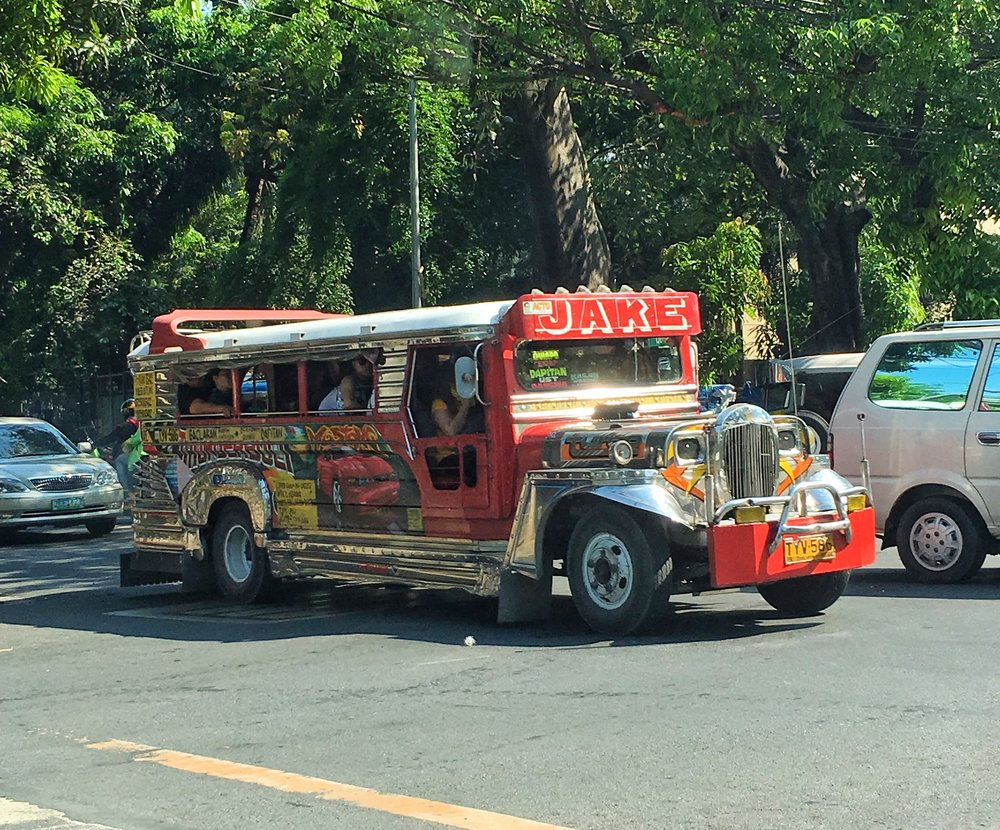 A Jeepney - the primary form of transportation in Philippines.