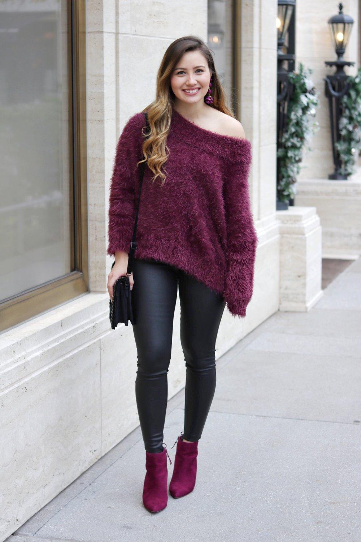 a7e2ecc5f69509 Fuzzy OTS Sweater with Leather Leggings — Kristine's Kaleidoscope