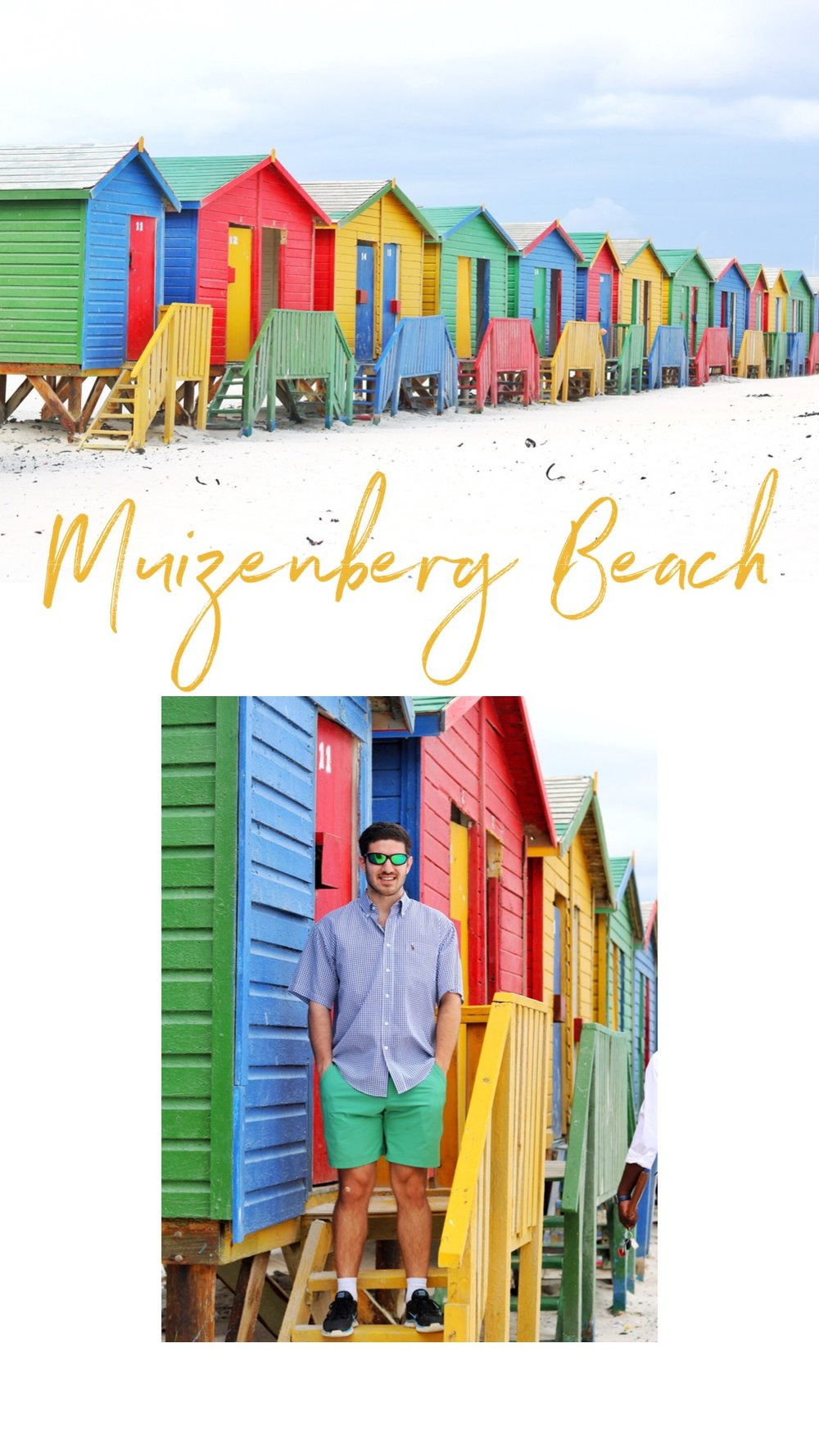 Picturesque Surfer Huts - Muizenberg is one of the main beaches where the surfers go, hence the colorful huts! We came here for the photo op :D