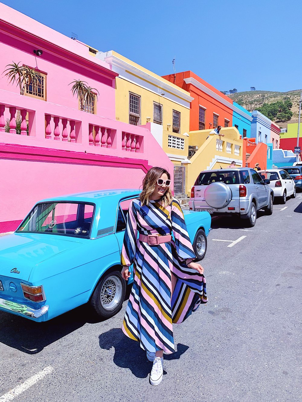 The Street of Color - Another great photo op! Bo-Kaap is a town where there's this street full of colorful houses. Only shame is there's so many cars parked along the street blocking them!