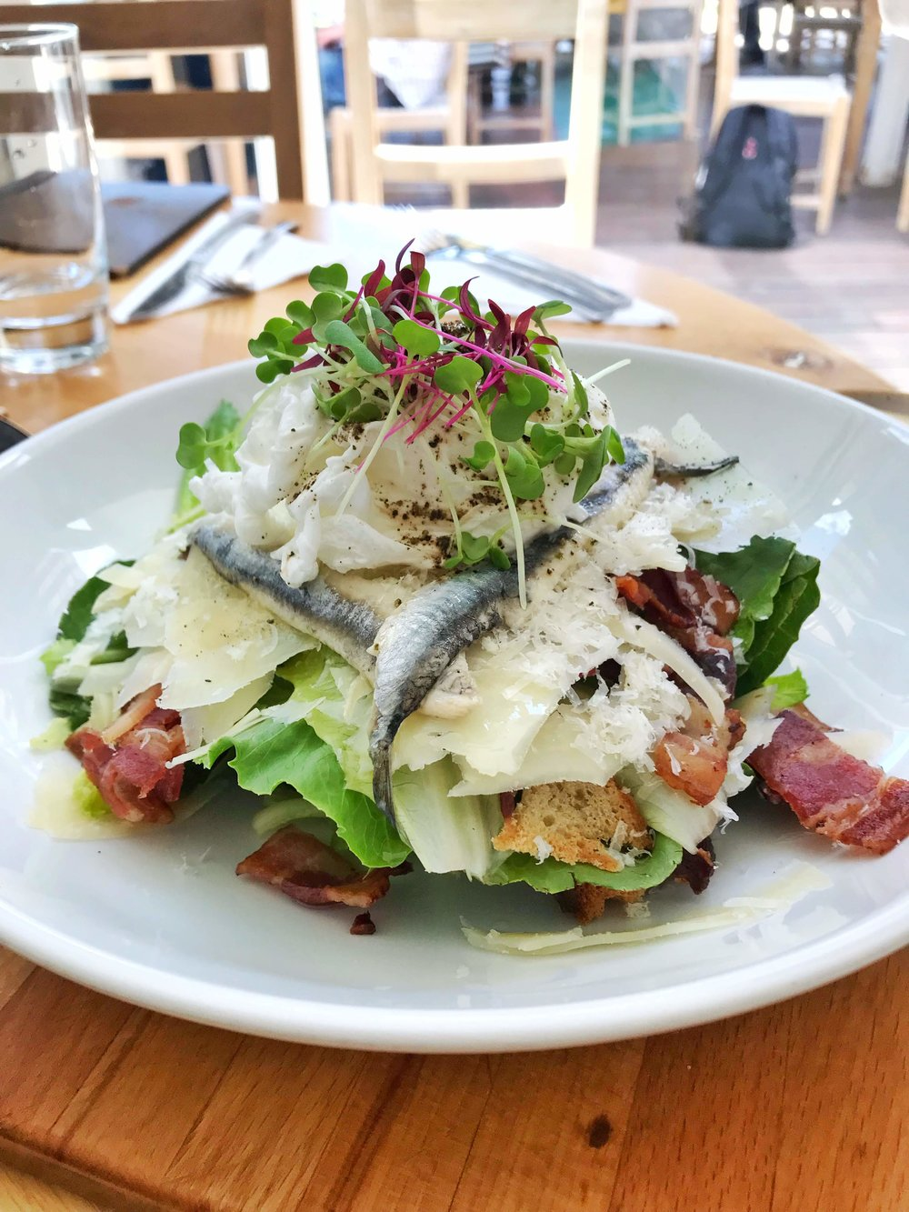 Lunch at Tokara Delicatessen - So happy we ended up eating here, because it was so so good! This was a Caesar Salad and it's one of the best ones we've had!