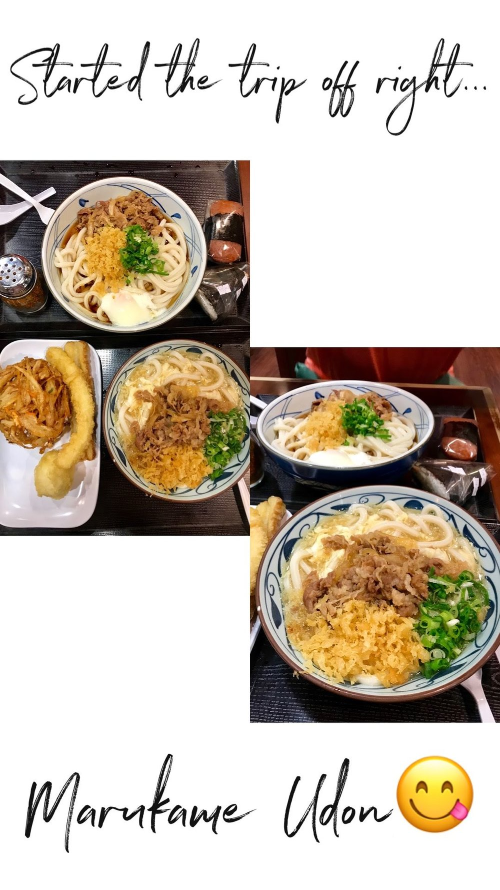 Marukame Udon - Yes we stood in a mile long line and yes it was worth it! We landed in Honolulu right around dinner time and this was our first stop! This is definitely a high tourist restaurant, as we ended up waiting about 45 minutes until we ordered our food. But the people we were in line next to were nice and talkative so it also felt like the waiting process wasn't as bad. Once we got in the restaurant to order it was like an assembly line. We also saw the udon noodles being prepared! After you order your soup there's tons of tempura options and we went a little overboard. I ordered the egg broth beef udon and it was so so good! The perfect amount of spice and flavor, highly recommend!