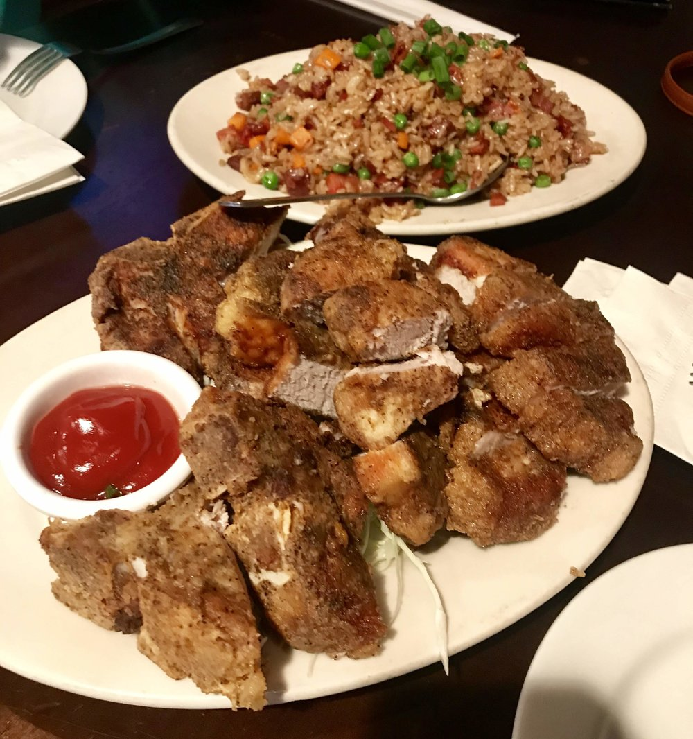 Side Street Inn - We ordered the fried pork chop and original fried rice. Nothing special about the pork chop but the fried rice was very good. Definitely a must order!We originally had reservations at Duke's for this night, but I wanted something quick so we went here instead. I heard Duke's has good cocktails though!