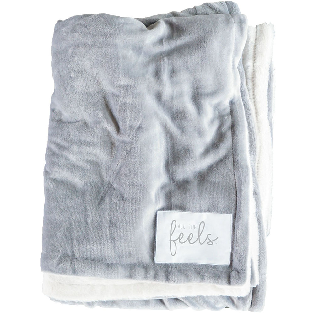 Extra Cozy Reversible Blanket in Ash Grey - From $35.00