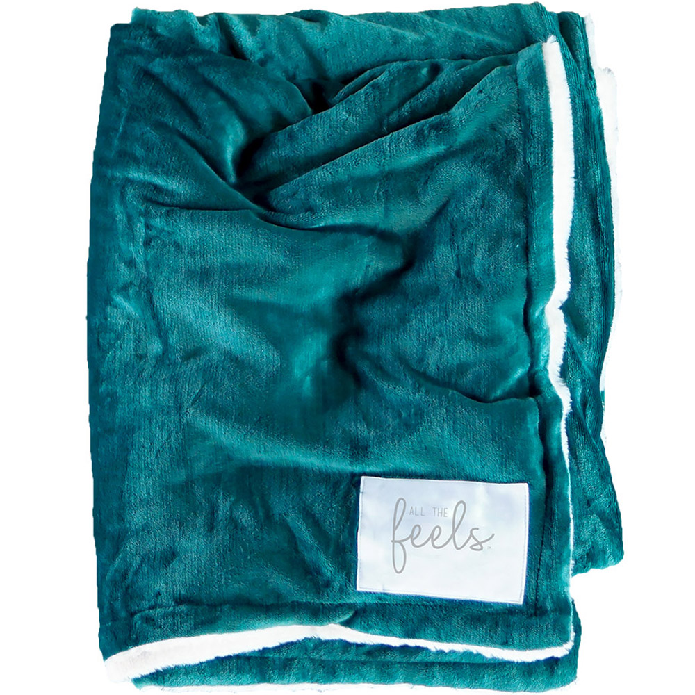 Extra Cozy Reversible Blanket in Botanical Green - From $35.00