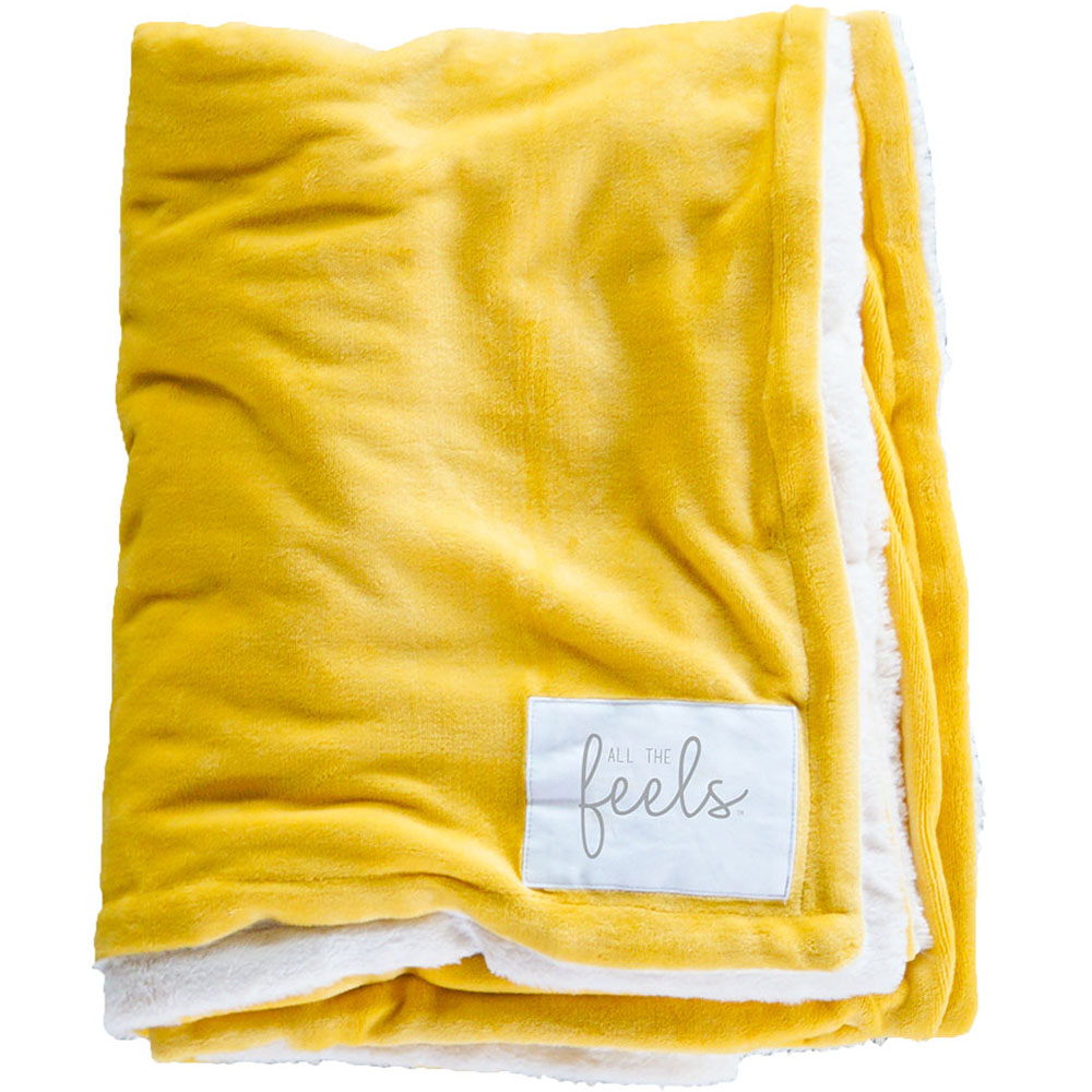 Extra Cozy Reversible Blanket in Marigold Yellow - From $35.00