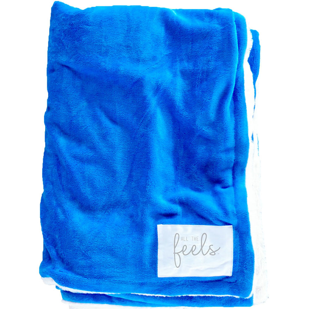 Extra Cozy Reversible Blanket in Strong Blue - From $35.00