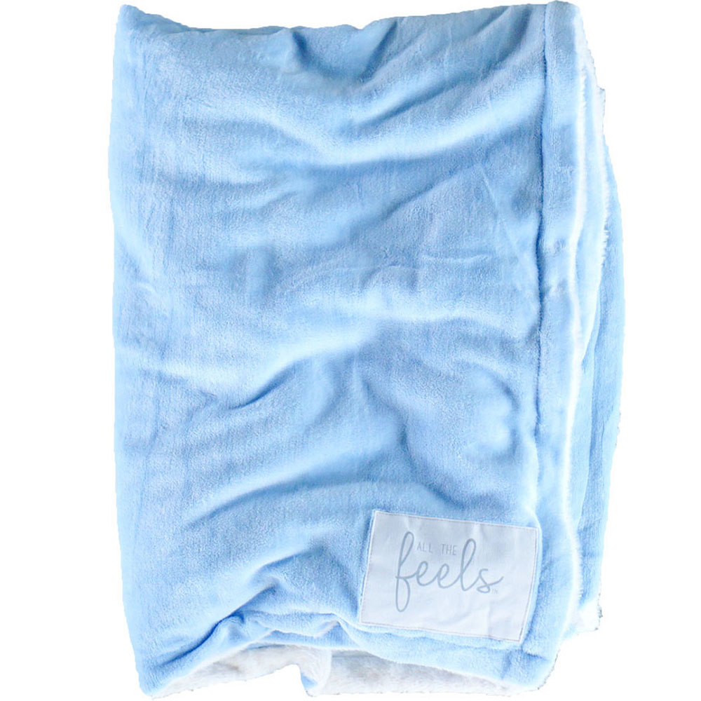 Extra Cozy Reversible Blanket in Carolina Blue - From $35.00